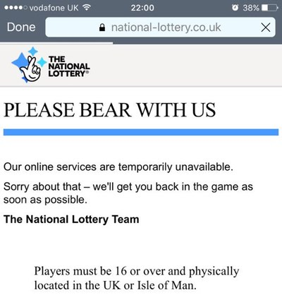 lottery-site-down