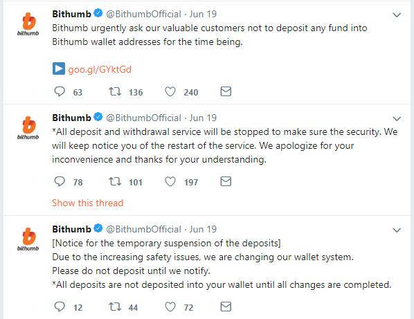 Bithumb-Tweets